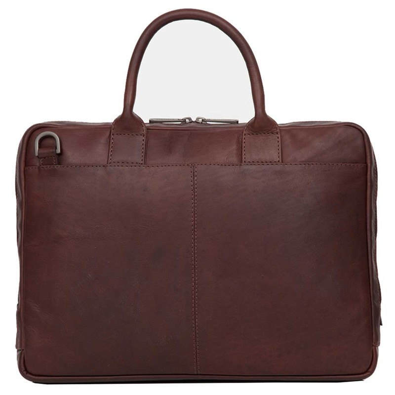 Knomo - Barbican Foster 14 inch Laptoptas Brown 06