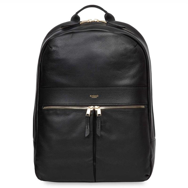 Knomo - Beaux 14 inch Laptop Rugzak Black 01