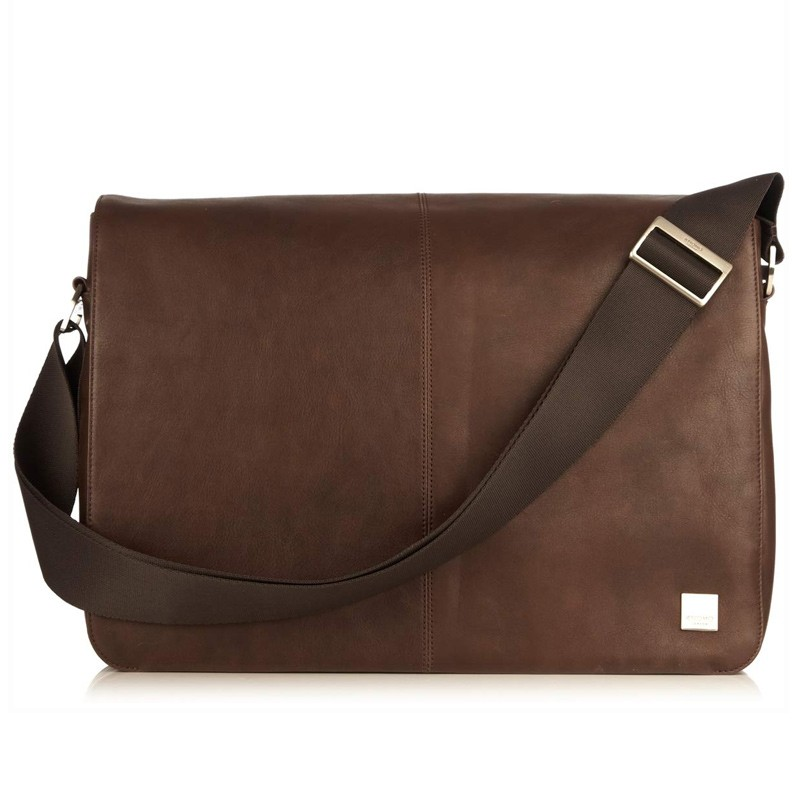 Knomo - Bungo 15,6 inch Laptop Messenger Brown 02