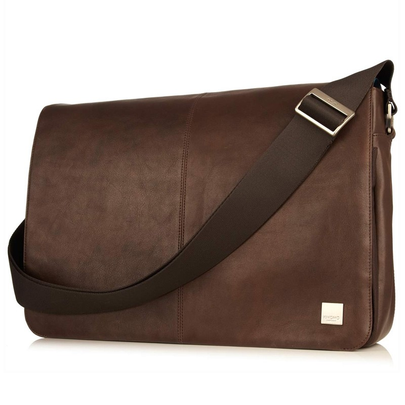 Knomo - Bungo 15,6 inch Laptop Messenger Brown 01