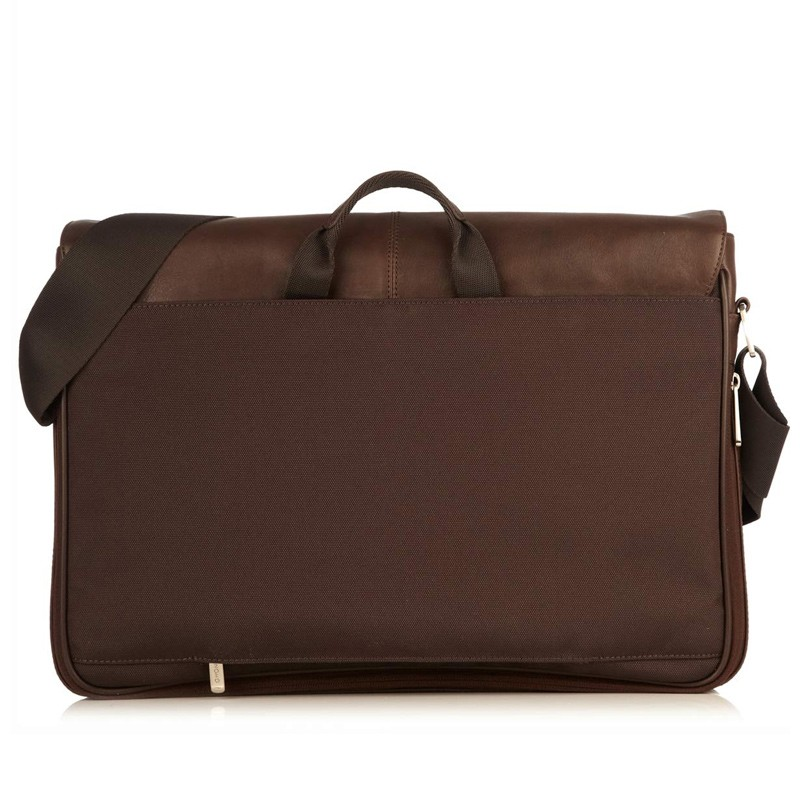 Knomo - Bungo 15,6 inch Laptop Messenger Brown 06