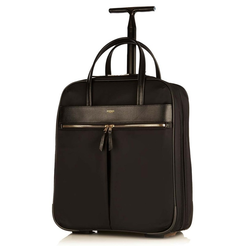 Knomo - Burlington 15 inch Laptop Trolley Black 01