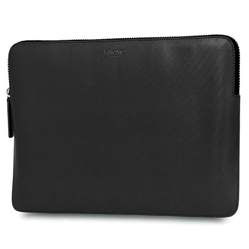 Knomo - Embossed Laptop Sleeve 12 inch Black 02