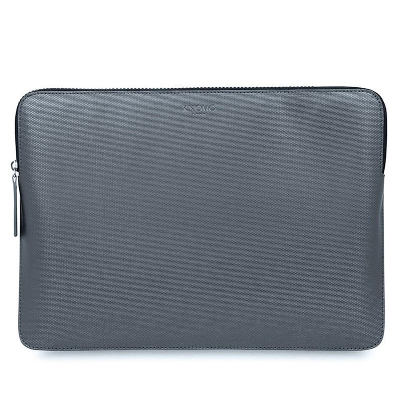 Knomo - Embossed Laptop Sleeve 12 inch Silver 01