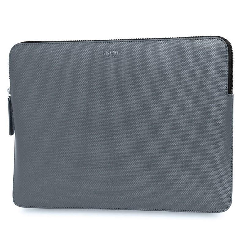Knomo - Embossed Laptop Sleeve 12 inch Silver 02