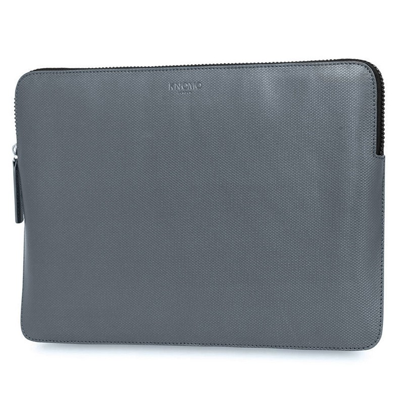 Knomo - Embossed Laptop Sleeve 13 inch Silver 02