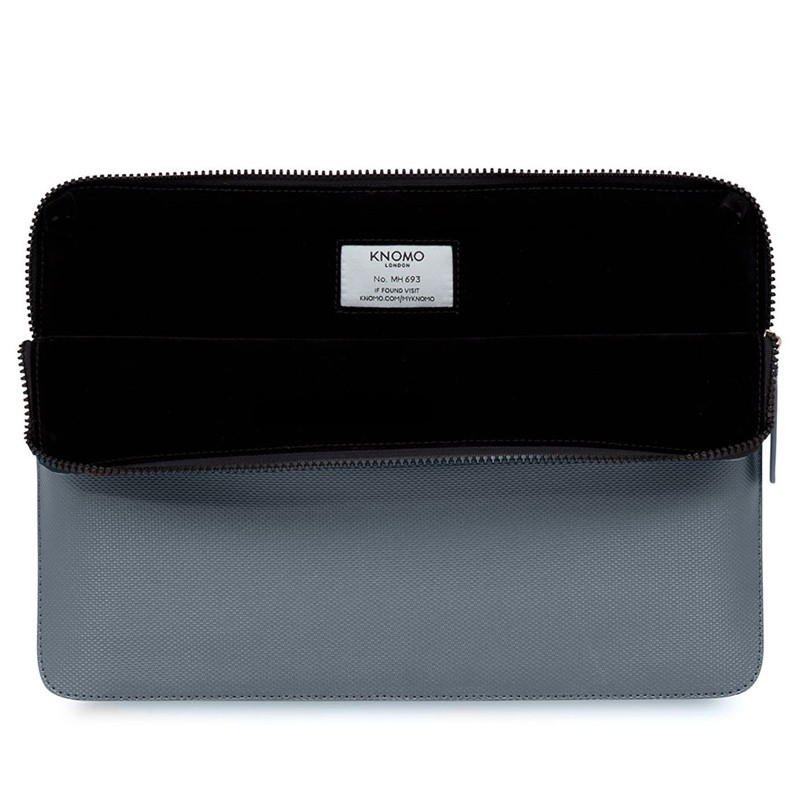 Knomo - Embossed Laptop Sleeve 15 inch MacBook Pro Silver 04