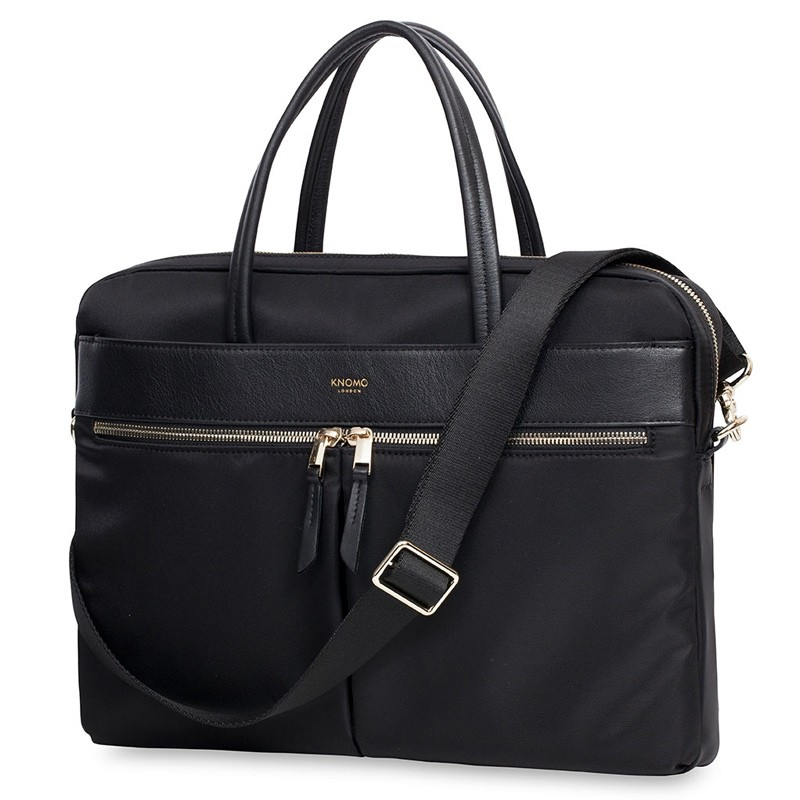 Knomo - Hanover 14 inch Slim Laptop Briefcase Black 01