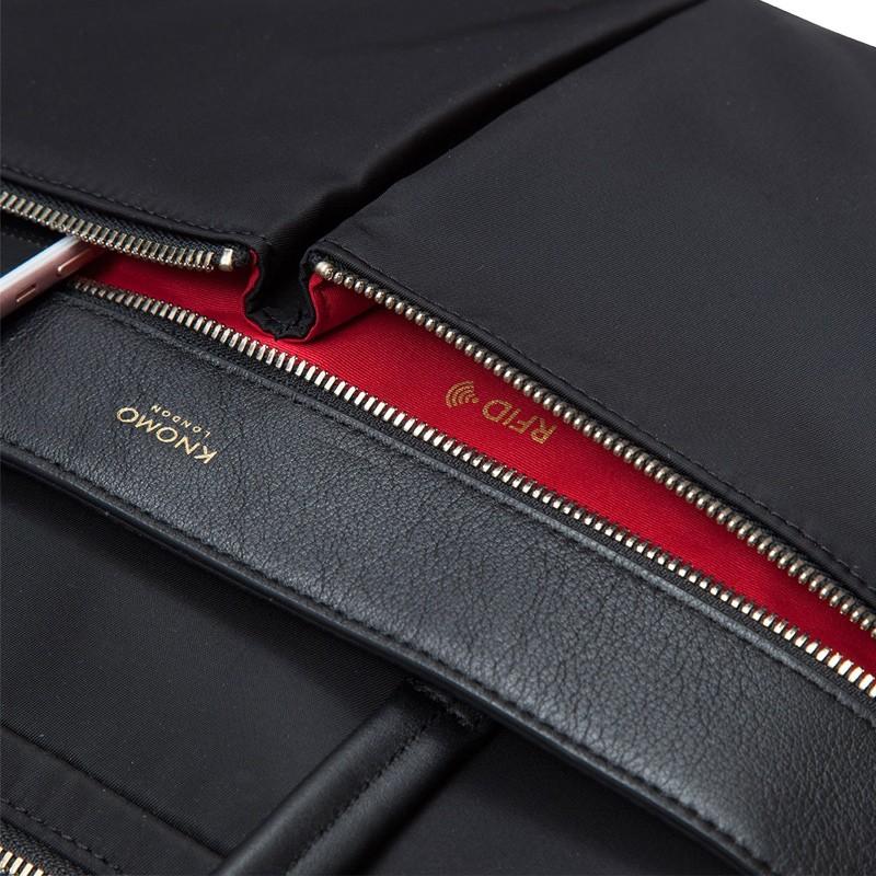 Knomo - Hanover 14 inch Slim Laptop Briefcase Black 06