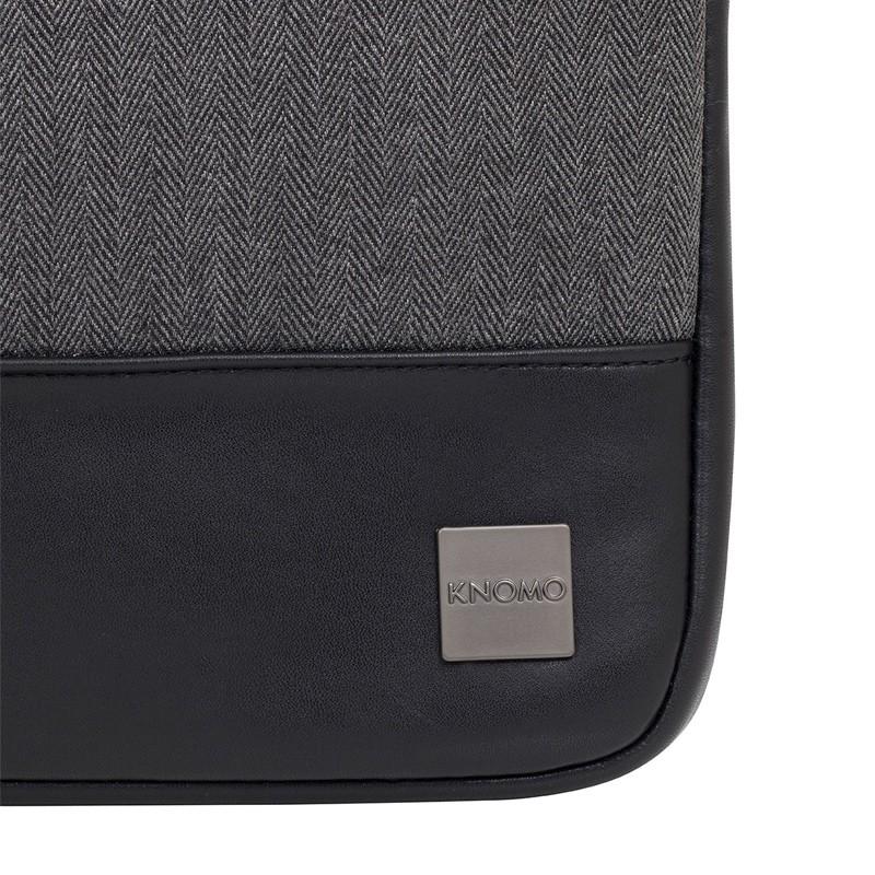 Knomo - Holborn 13 inch Herringbone Sleeve Charcoal 08