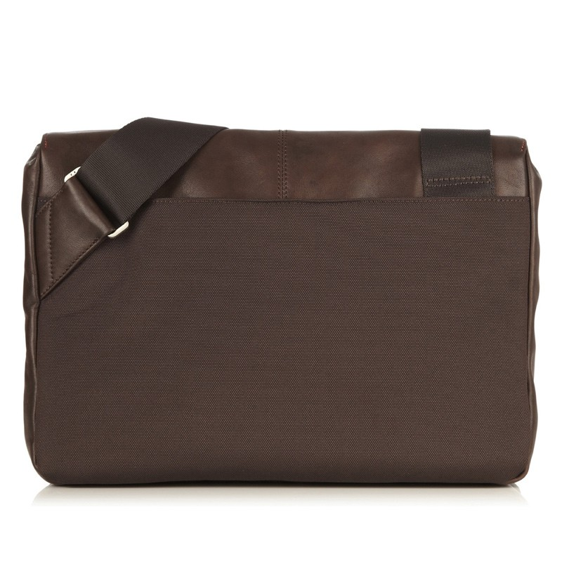 Knomo - Kinsale 13 inch Laptop Messenger Brown 05