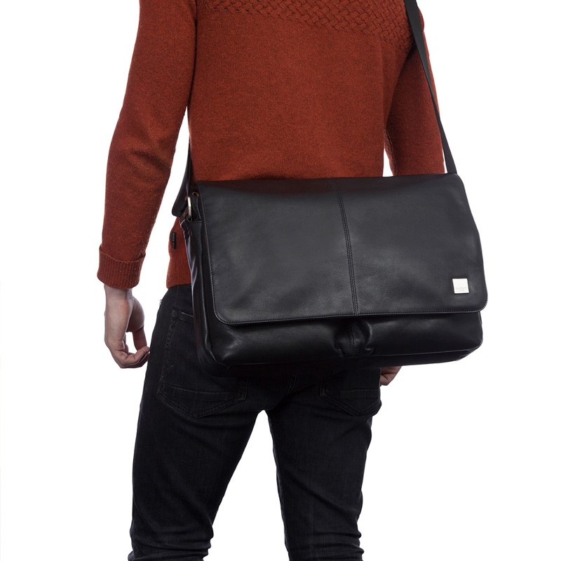 Knomo - Kobe 15 inch Laptop Messenger Black 08