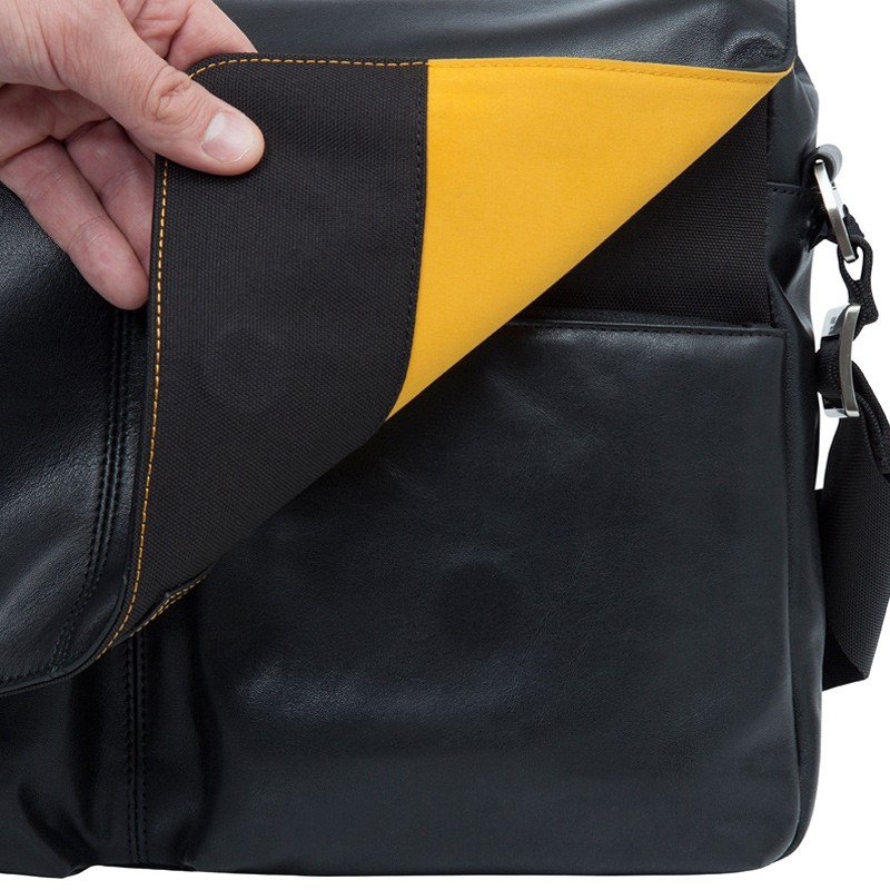 Knomo - Kobe 15 inch Laptop Messenger Black 06