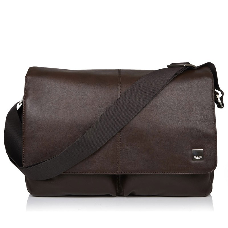 Knomo - Kobe 15 inch Laptop Messenger Brown 02
