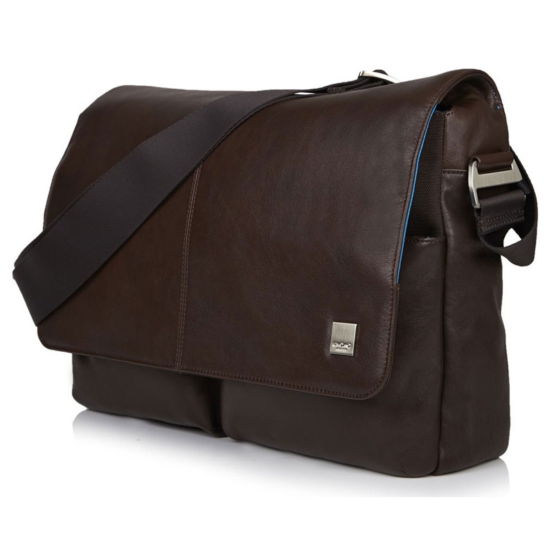 Knomo - Kobe 15 inch Laptop Messenger Brown 01