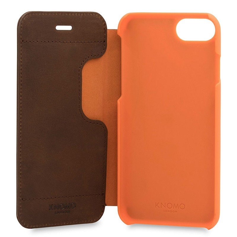 Knomo Leather Folio iPhone 7 Brown 05