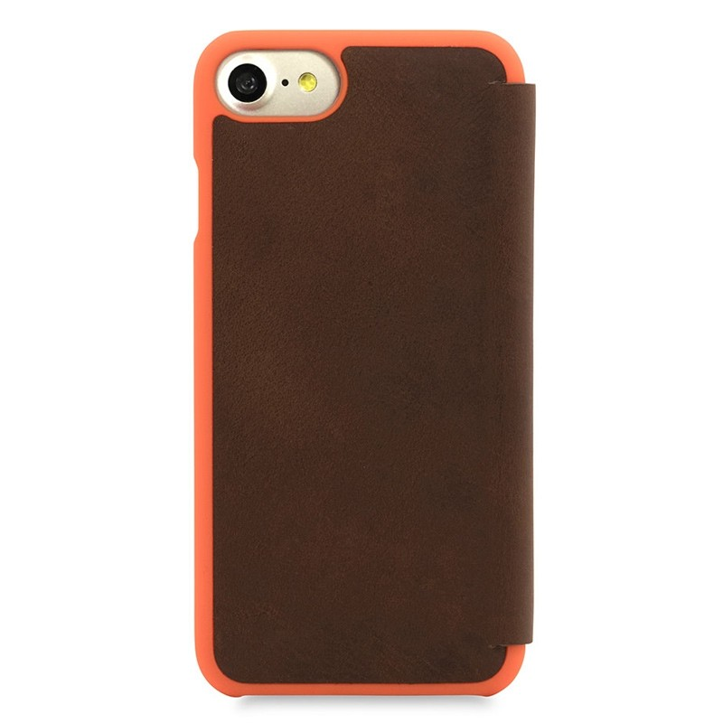 Knomo Leather Folio iPhone 7 Brown 02