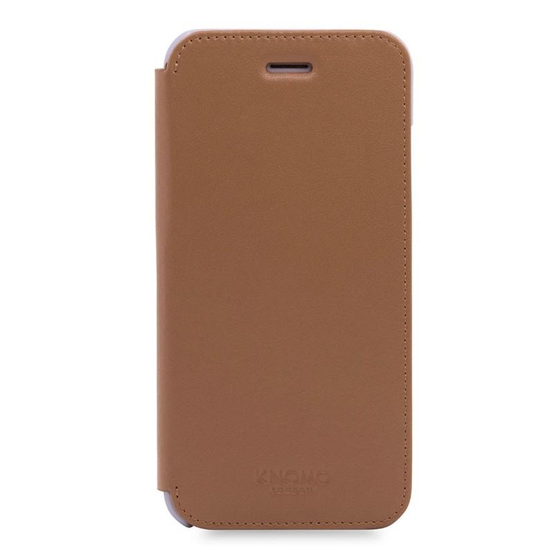 Knomo Leather Folio iPhone 7 Caramel 01