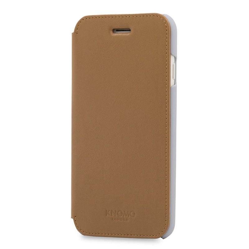 Knomo Leather Folio iPhone 7 Caramel 02