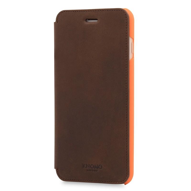 Knomo Leather Folio iPhone 7 Plus Brown 02