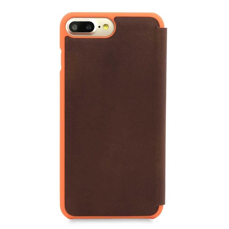 Knomo Leather Folio iPhone 7 Plus Brown 03