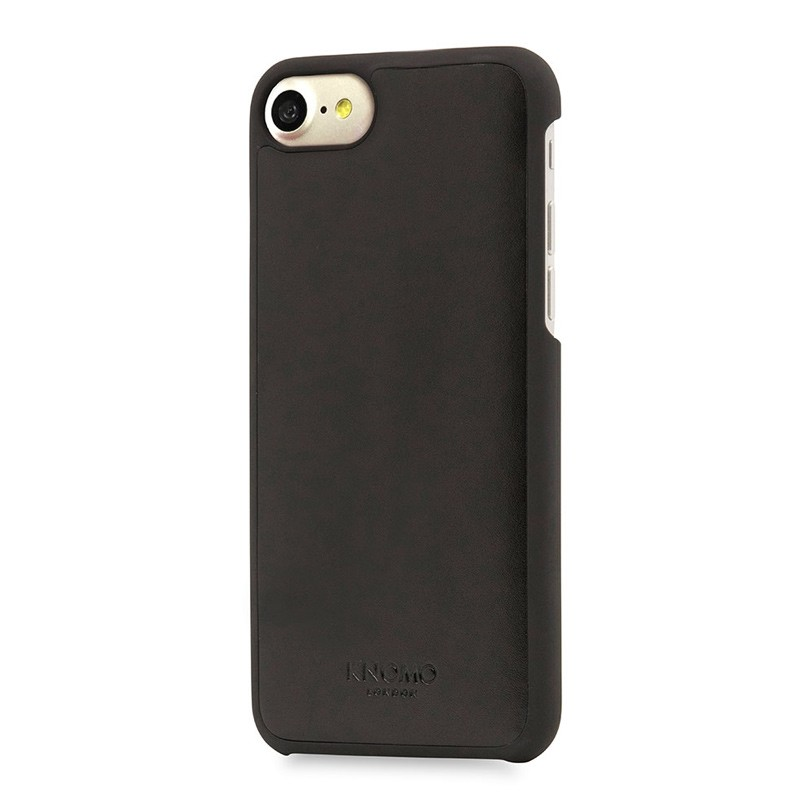 Knomo Leather Snap On Hoes iPhone 7 Black 01