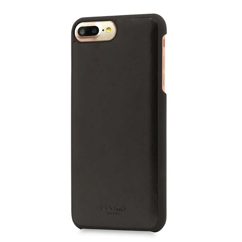 Knomo Leather Snap On Hoes iPhone 7 Plus Black 01