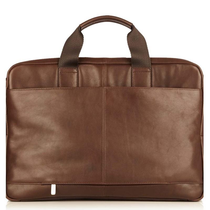 Knomo - Newbury Lederen 15 inch Laptoptas Brown 04