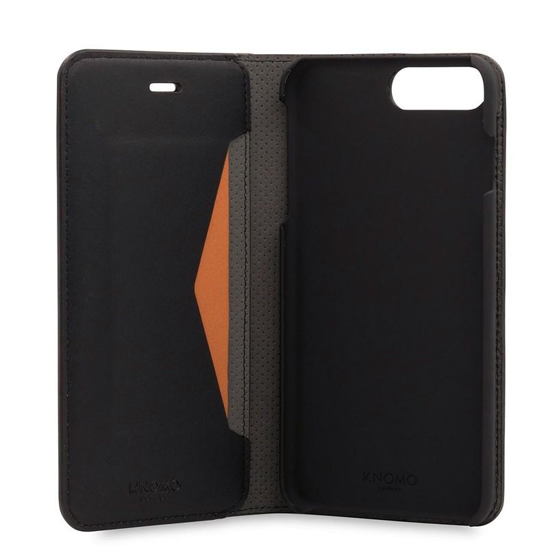 Knomo Premium Leather Folio iPhone 7 Plus Black 05
