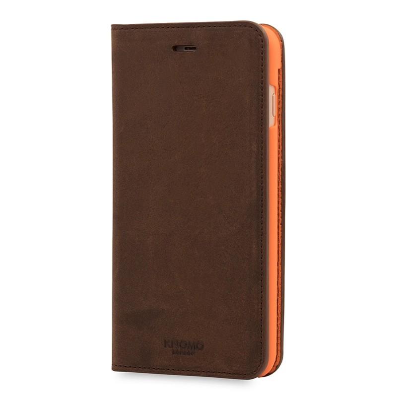 Knomo Premium Leather Folio iPhone 7 Plus Brown 03