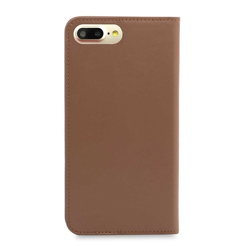 Knomo Premium Leather Folio iPhone 7 Plus Caramel 02