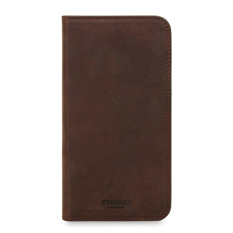 Knomo Premium Leather Folio iPhone X/Xs Bruin - 2