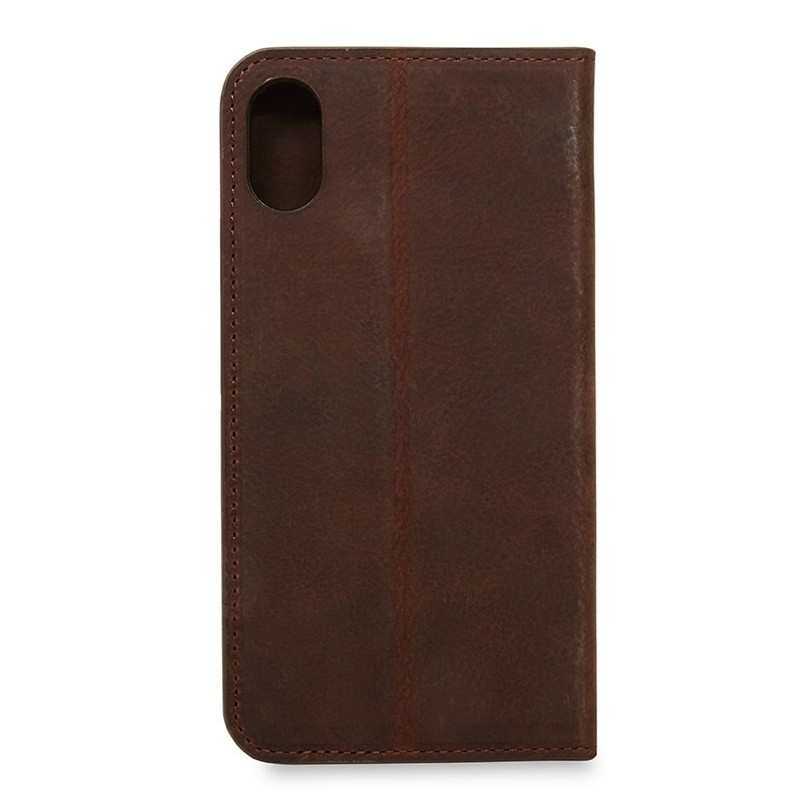 Knomo Premium Leather Folio iPhone X/Xs Bruin - 5
