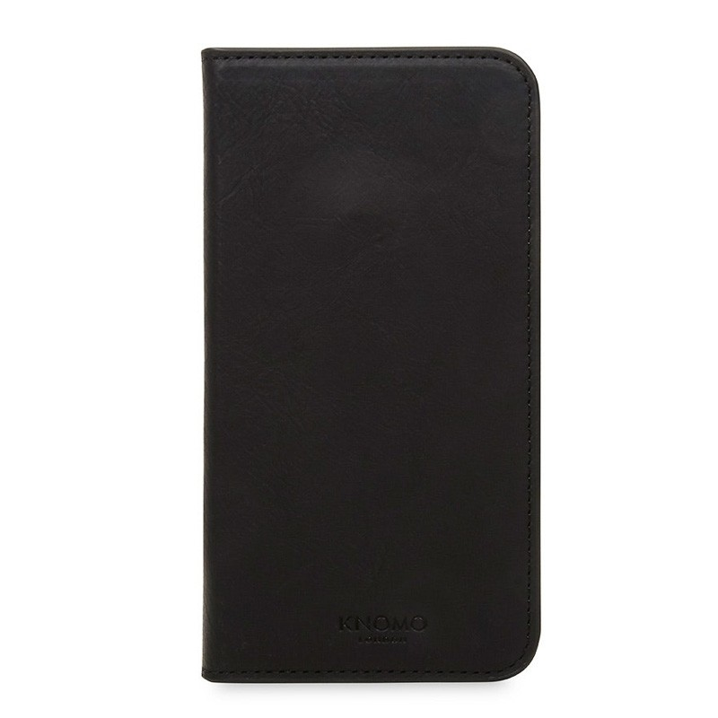 Knomo Premium Leather Folio iPhone X/Xs Zwart - 2