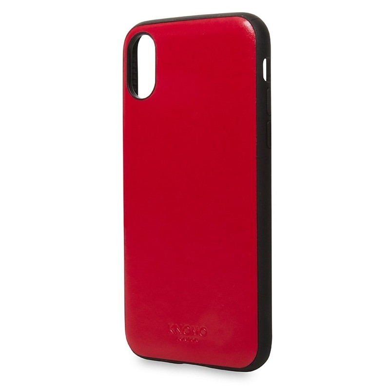 Knomo Leather Snap On Case iPhone X/Xs Chili Red - 2