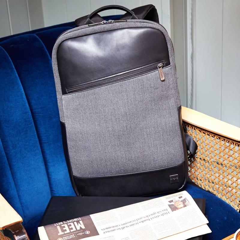 Knomo - Southampton 15 inch Laptoprugzak Charcoal 09