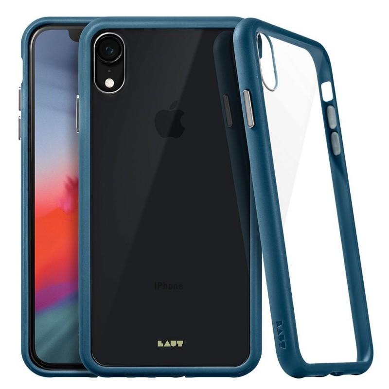 LAUT Accents iPhone XR Hoesje Blauw Transparant 01