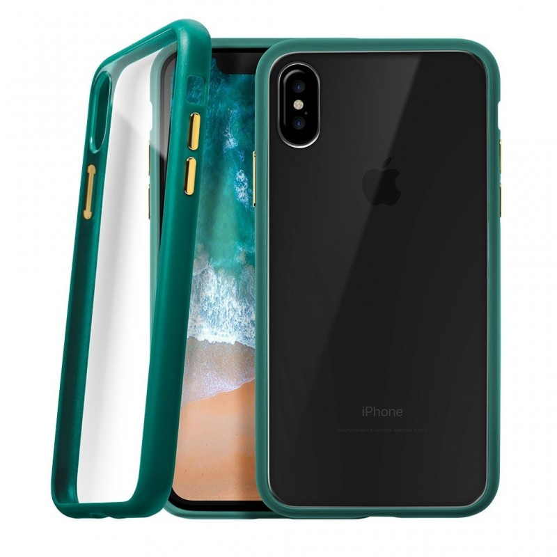 LAUT Accents iPhone X/Xs Emerald Green/Clear - 1