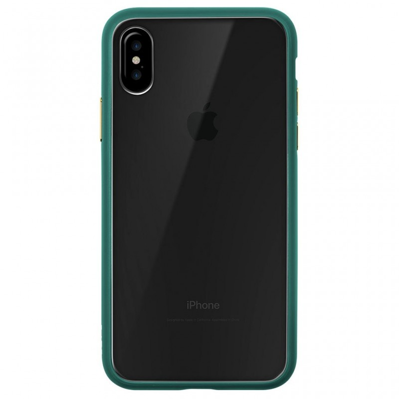 LAUT Accents iPhone X/Xs Emerald Green/Clear - 2