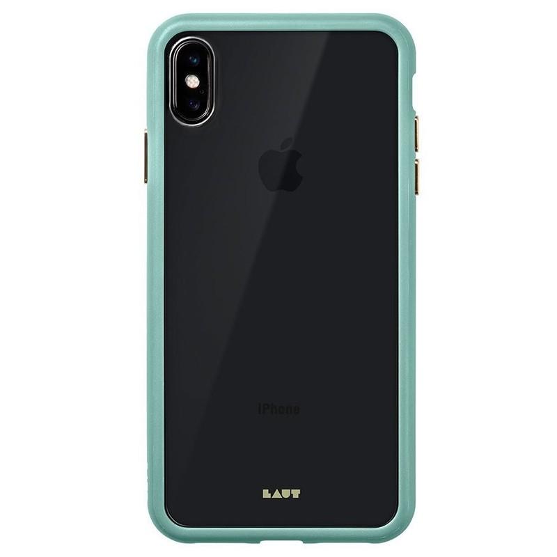LAUT Accents iPhone XS Max Hoesje Mintgroen / Transparant 03