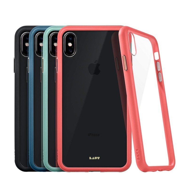 LAUT Accents iPhone XS Max Hoesje Zwart/Transparant 04