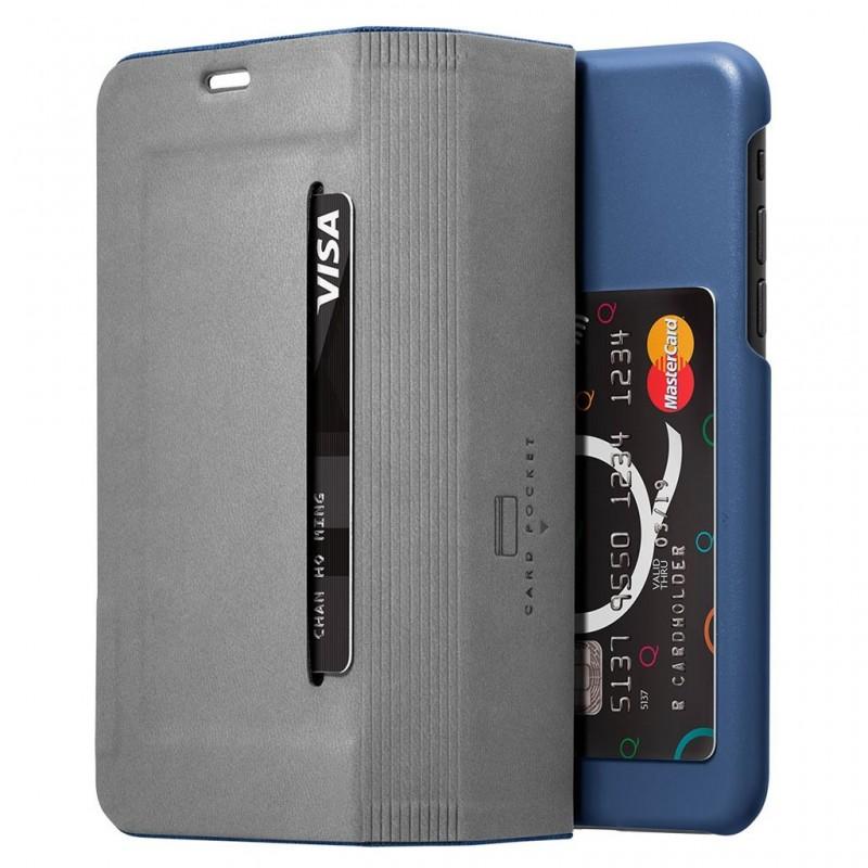 LAUT Apex Knit iPhone X/Xs Wallet Indigo Blue - 4