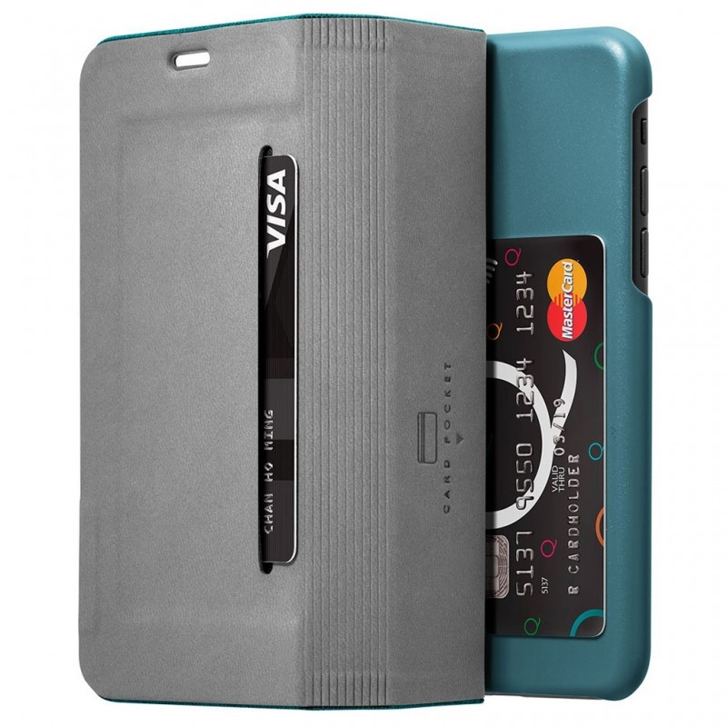 LAUT Apex Knit iPhone X/Xs Wallet Jade Green - 4