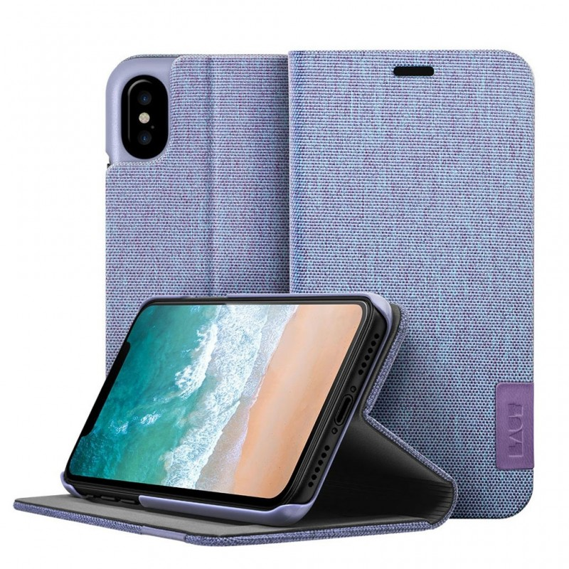 LAUT Apex Knit iPhone X/Xs Wallet Violet Purple - 1