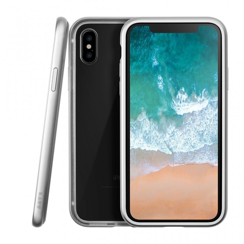 LAUT Exo Frame iPhone X/Xs Silver - 1