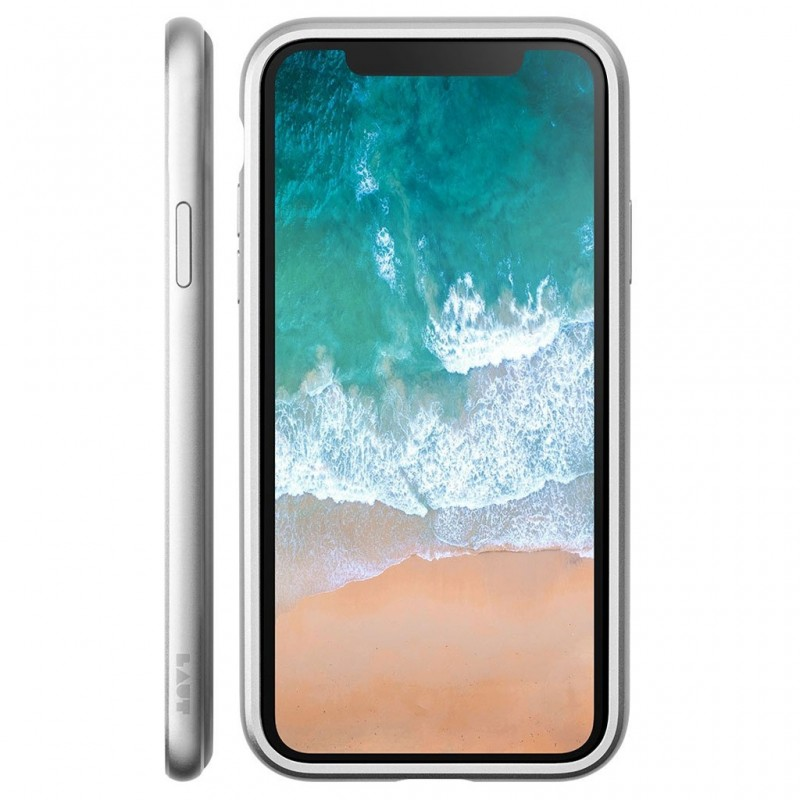 LAUT Exo Frame iPhone X/Xs Silver - 2