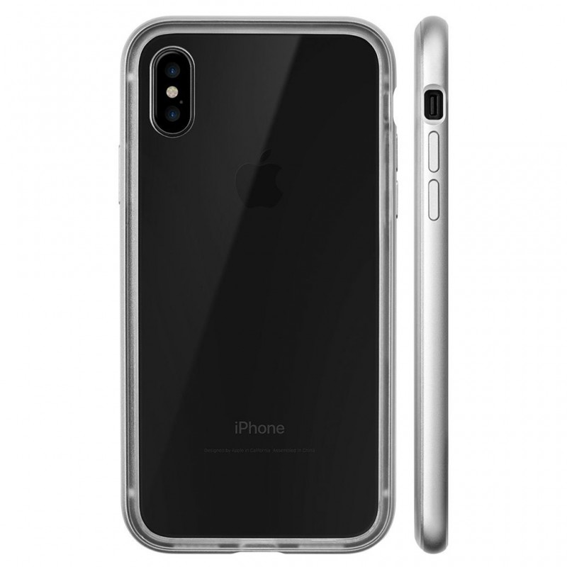 LAUT Exo Frame iPhone X/Xs Silver - 3