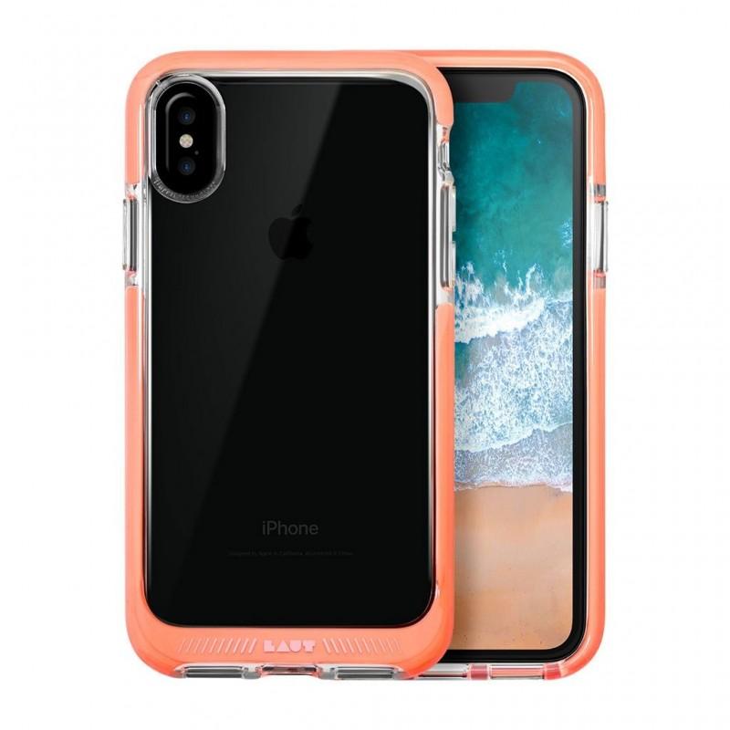 LAUT Fluro IMPKT Case iPhone X/Xs Pink/Clear - 1