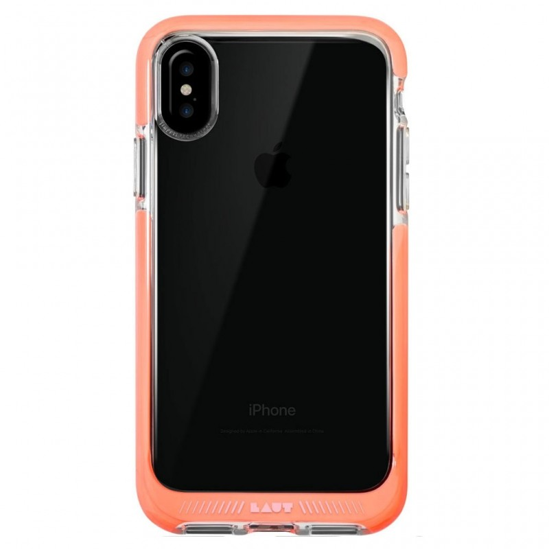LAUT Fluro IMPKT Case iPhone X/Xs Pink/Clear - 3