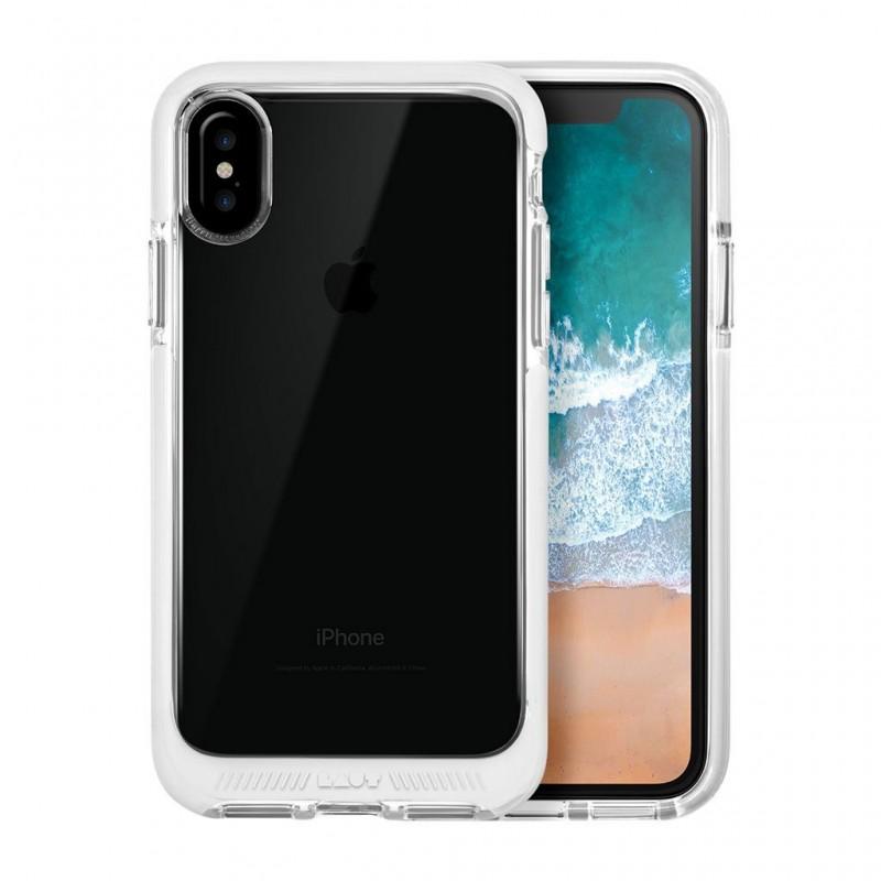LAUT Fluro IMPKT Case iPhone X/Xs White/Clear - 1